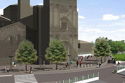 Piazza della Chiesa - Arosio (CO)