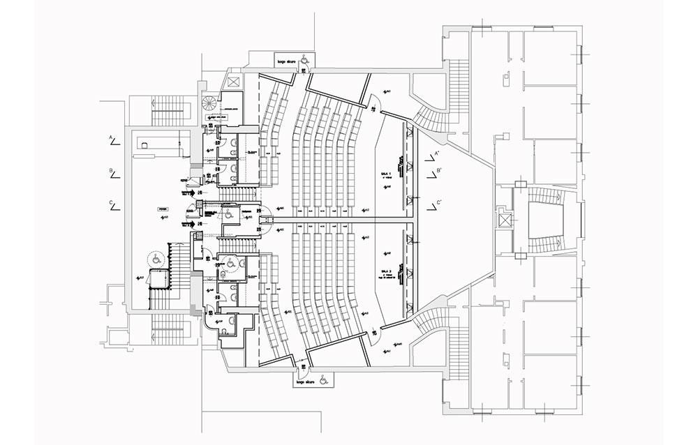 Cinema Multisala San Marco - Piazza della Repubblica a Bergamo - Andrea Savio - Architetto