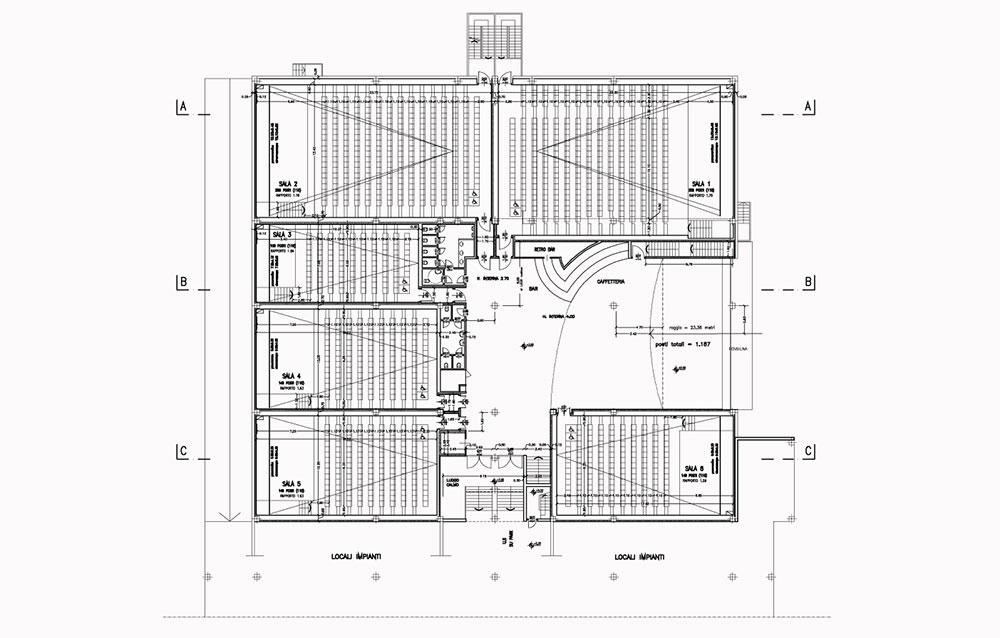 Cinema Multisala Cinelandia - Borgo San Dalmazzo (CN) - Andrea Savio - Architetto