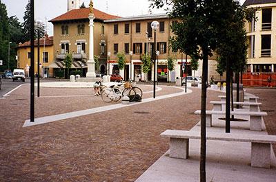 Piazza Roma a Giussano (MI)
