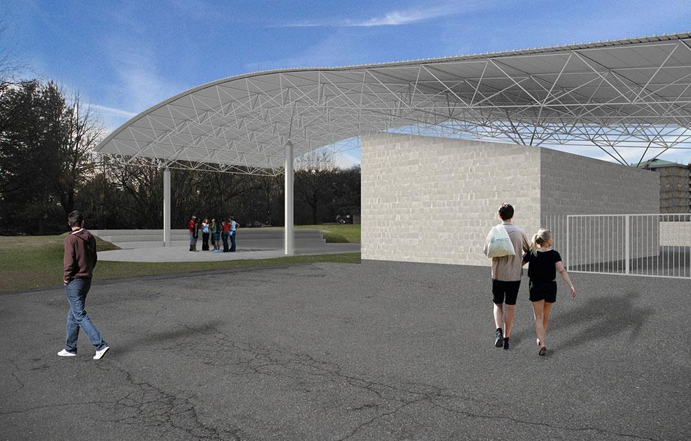 Progetto della nuova sede della Protezione Civile e del Magazzino Comunale presso il Centro Sportivo di Via Serra - Paderno Dugnano (MI) - Andrea Savino - Architetto