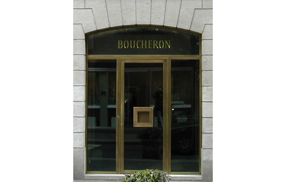 Gioielleria Boucheron - Via Montenapoleone - Milano - Andrea Savio - Architetto